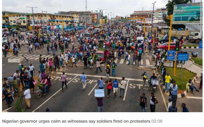 游戏天堂_尼日利亚示威中抗议者开枪后,总统呼吁保持冷静