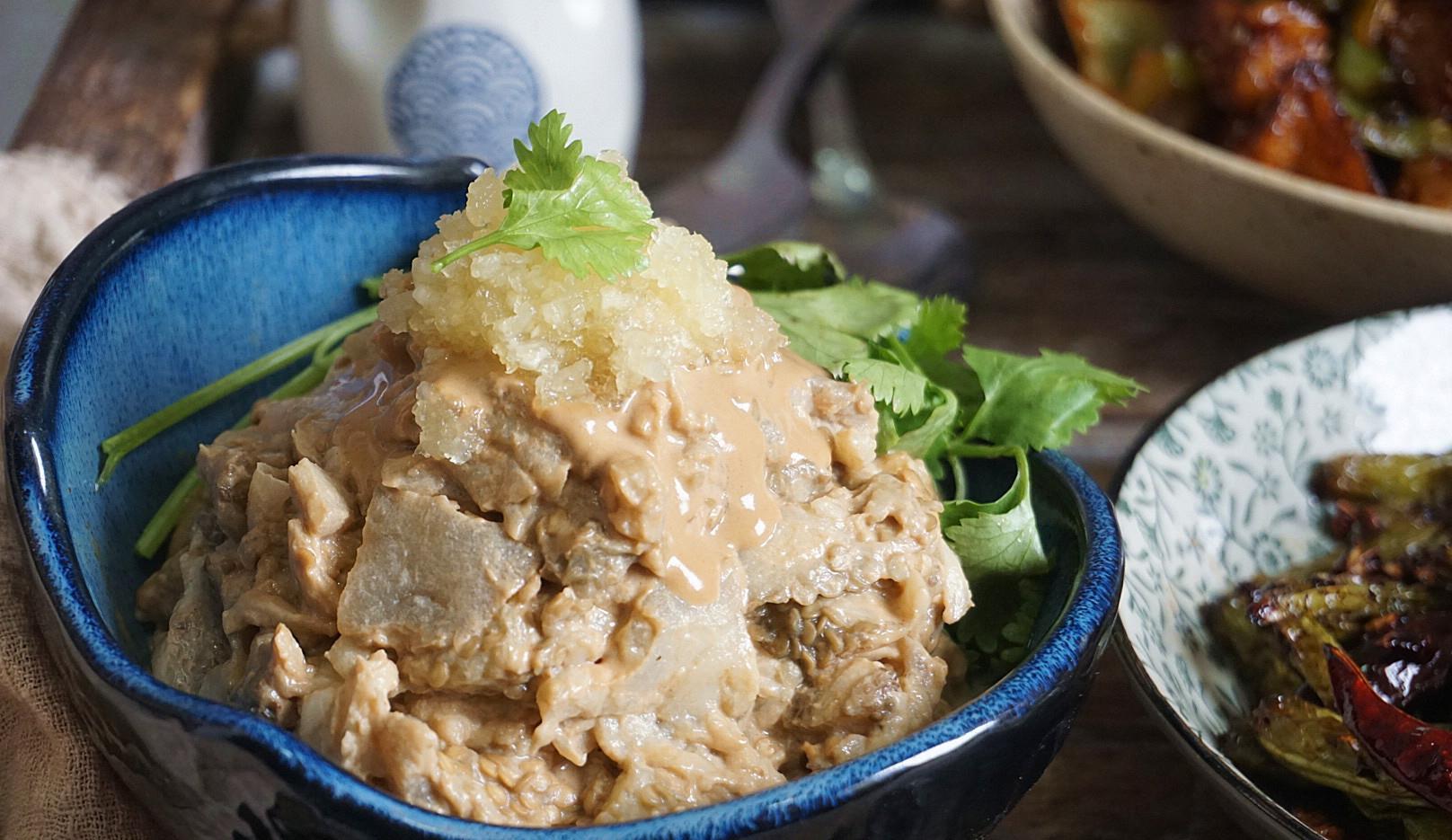 地道天津菜:凉拌茄子泥,简单一蒸不用油,营养健康,多吃不长肉