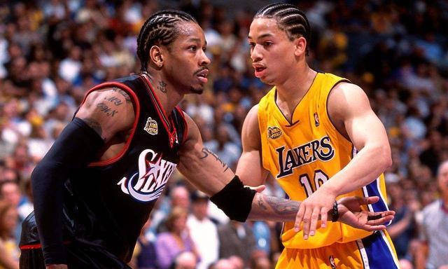 艾弗森记忆—从控卫变分卫,进攻天赋被彻底释放季后赛对飙卡特! 洛杉矶湖人队 篮球 76人 76人队 艾弗森 nba 单机资讯  第2张