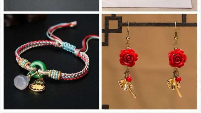 《时尚在身边花卉篇》花卉时尚不仅仅表现在耳环里,手链里也有!