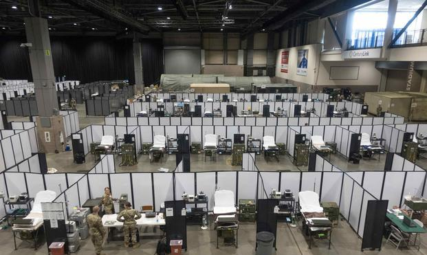 确诊超100万例,美军部队紧急建造28处临时医院