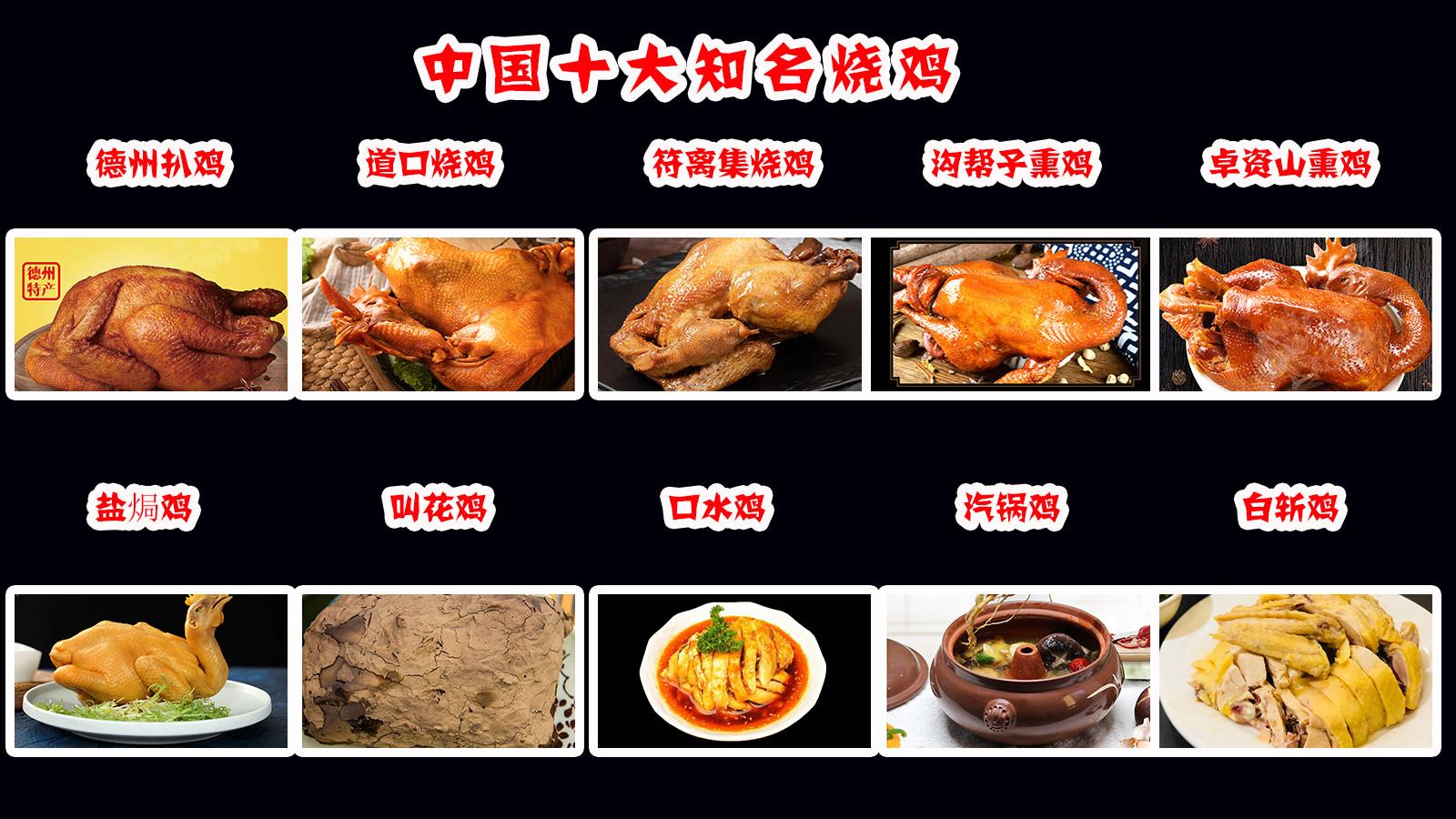 中国十大名鸡有哪些?盘点各地160种知名烧鸡,有你家乡的吗?每一种都是本地老百姓的最爱,享誉全国