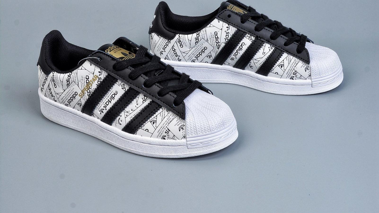 adidas originals Superstar 贝壳头50周年 白黑色炸街款 陈奕迅代言款