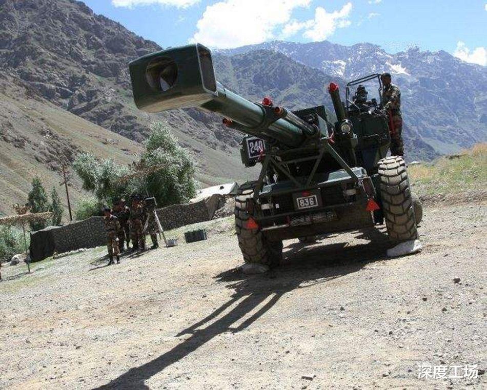 大量装备在拉达克集结,印军重型大炮遭曝光:火力之猛前所未有