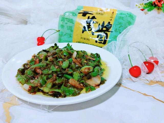 吃惯了肉菜那就来道素菜,黄豆酱炒螺丝椒,保证让你吃了还想吃!