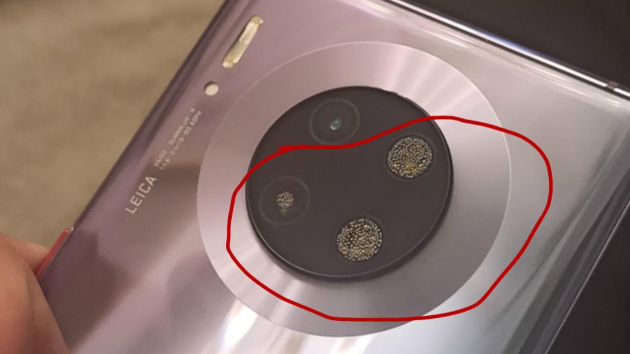 网友吐槽华为Mate30Pro防水性能差,酒精冲洗摄像头雾化严重?