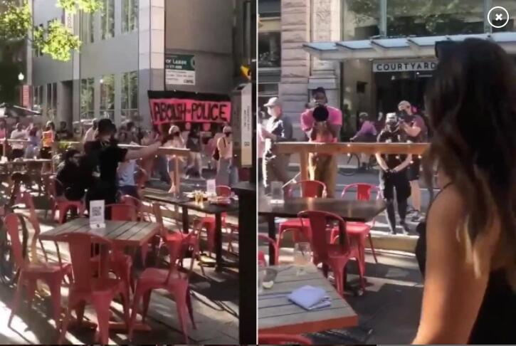 """征途怀旧版官方下载_美国宾夕法尼亚州匹兹堡骚扰食客的抗议者否认自己是""""侵犯者"""""""