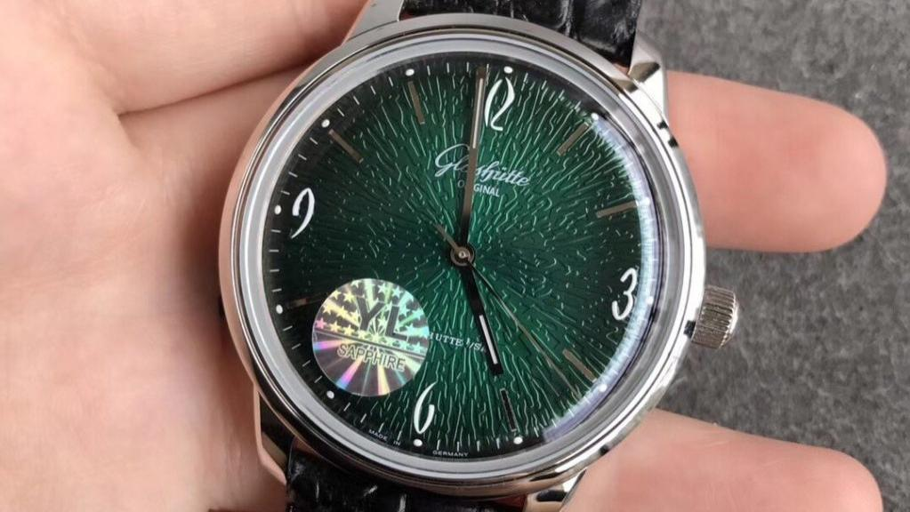 YL厂复刻正装表格拉苏蒂复古绿60年代复刻表做工评测-德系复古手表