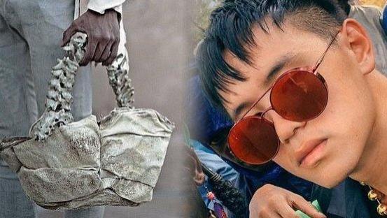 令人恐惧!印尼富二代品味独特,自制人骨手提包,标价5000美元