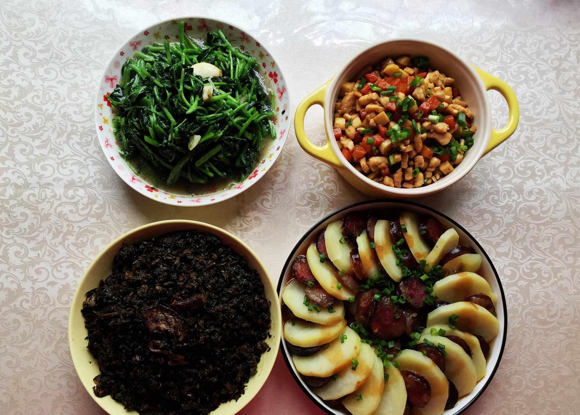 一家人的工作餐,30分钟做好4道家常菜,有荤有素,花钱少营养高