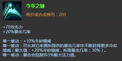 《【煜星平台注册网址】版本性价比最高的出装 深受路人玩家青睐 夺萃之镰卡莎来袭》