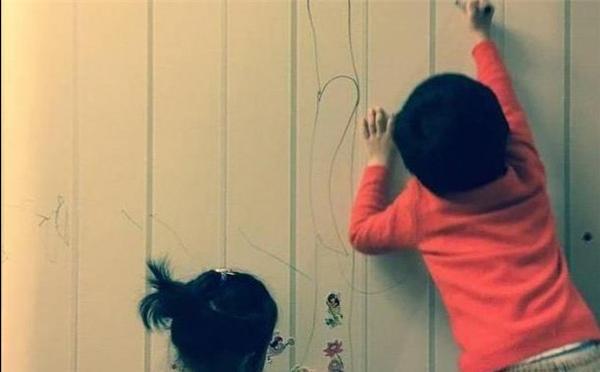 邓超孙俪家墙壁惨不忍睹,用这种代价教育孩子,我惭愧