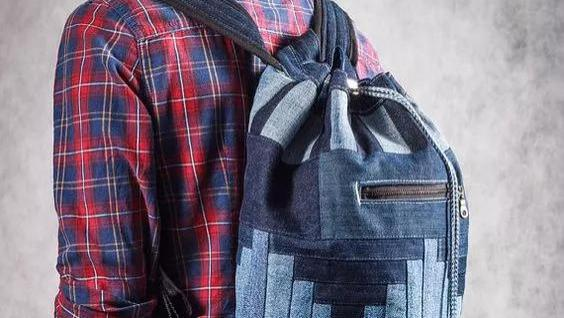 布艺手工包:一条牛仔裤就是一个包,好看又好用到极致!