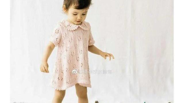 甜美可爱的儿童连衣裙!DIY手工编织,附20款棒针镂空花样图解