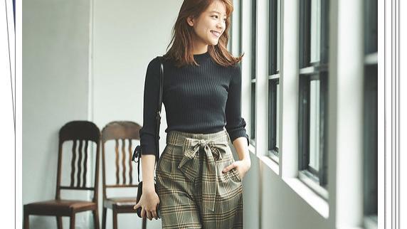 格纹阔腿裤的简单穿搭精选!打造经典复古味道的秋季造型