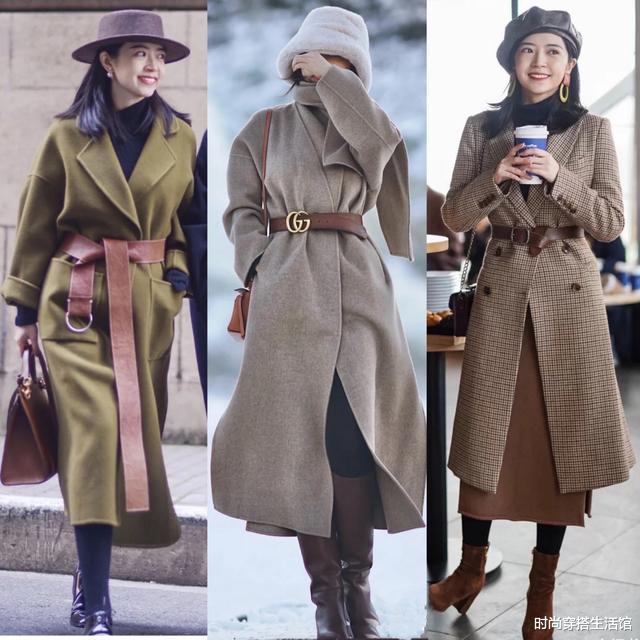 """突然发现,今冬流行""""呢子大衣+裤裙"""",洋气又减龄"""