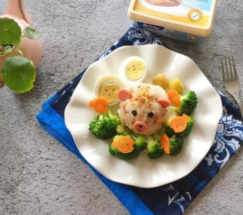 教你一招肉松拌饭,好看又营养,孩子超喜欢