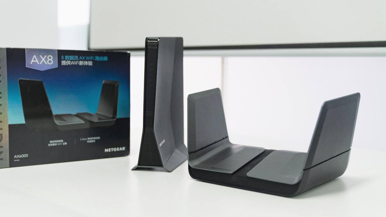 快得飞起,网件AX8系列WiFi6无线路由套装开箱评测