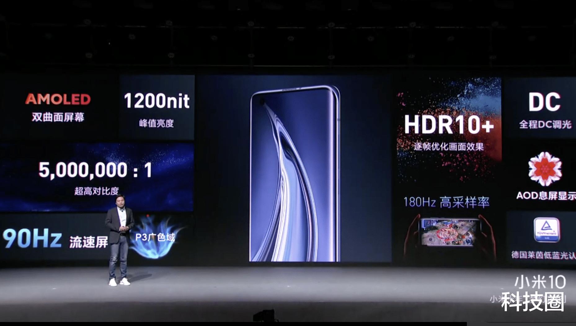 双第一力压苹果华为,投入10亿研发的小米10 Pro售价4999起