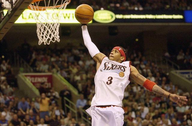 艾弗森记忆—从控卫变分卫,进攻天赋被彻底释放季后赛对飙卡特! 洛杉矶湖人队 篮球 76人 76人队 艾弗森 nba 单机资讯  第7张
