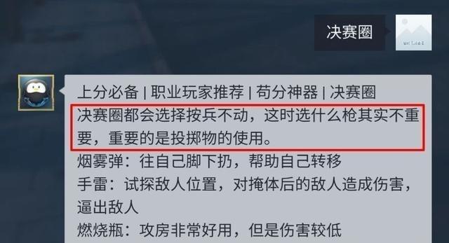 """""""吃鸡""""决赛圈该使用什么枪?光子回答让人意外  单机资讯  第2张"""