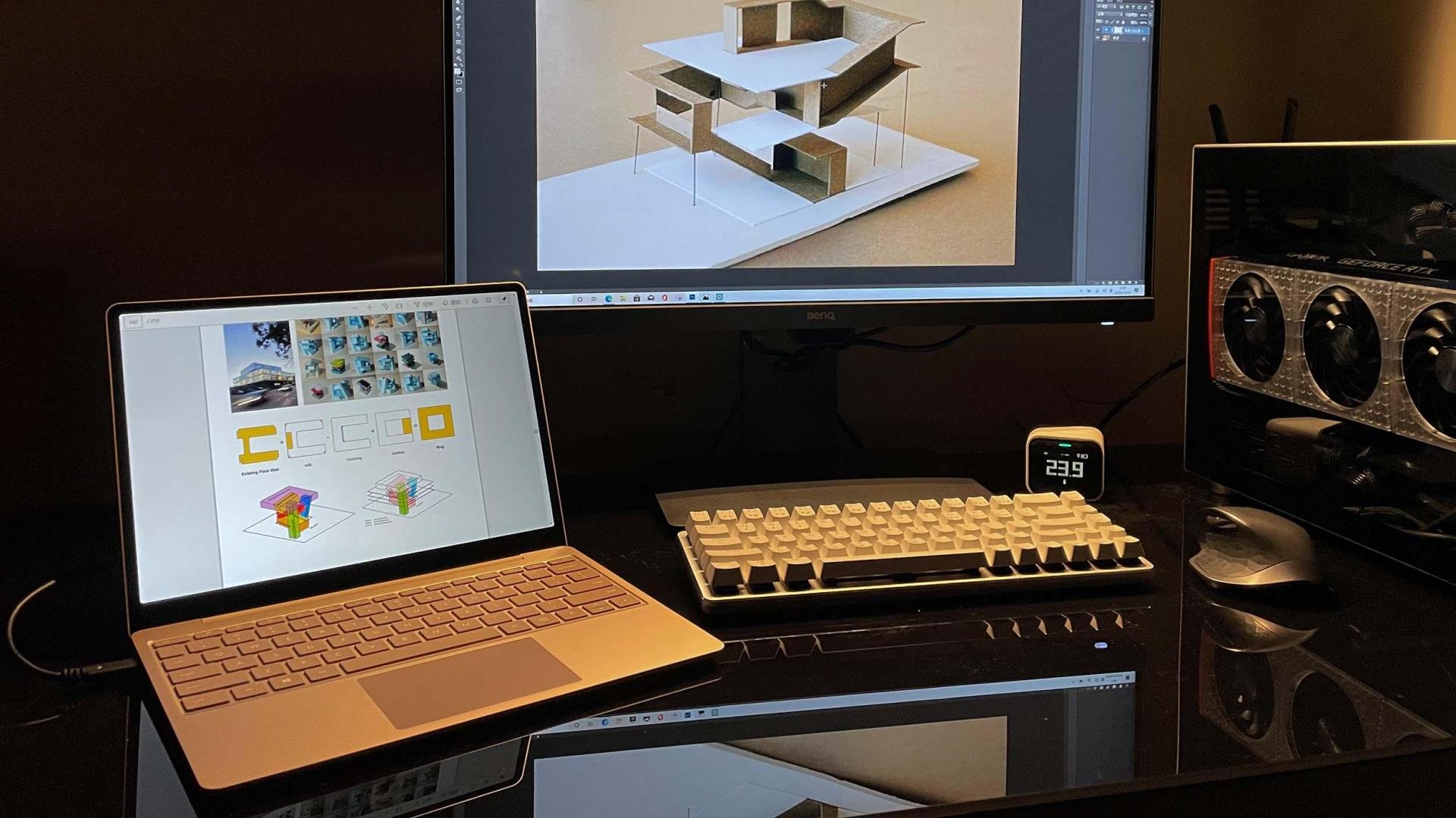 Surface Laptop Go与Type-c显示器使用心得
