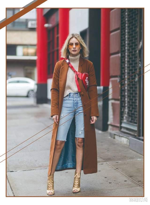 """今年的""""毛呢大衣+牛仔裤""""又火了,简单搭配也高级,明星都上头插图4"""
