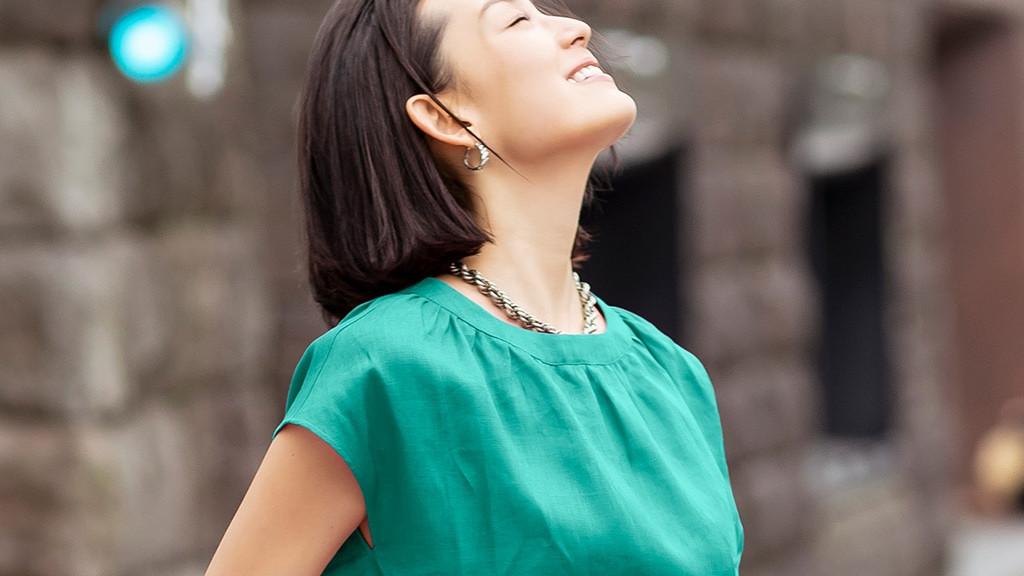 40岁女性这样穿,2020夏日本女装新品,舒适亚麻纯棉印花衬衫连衣裙