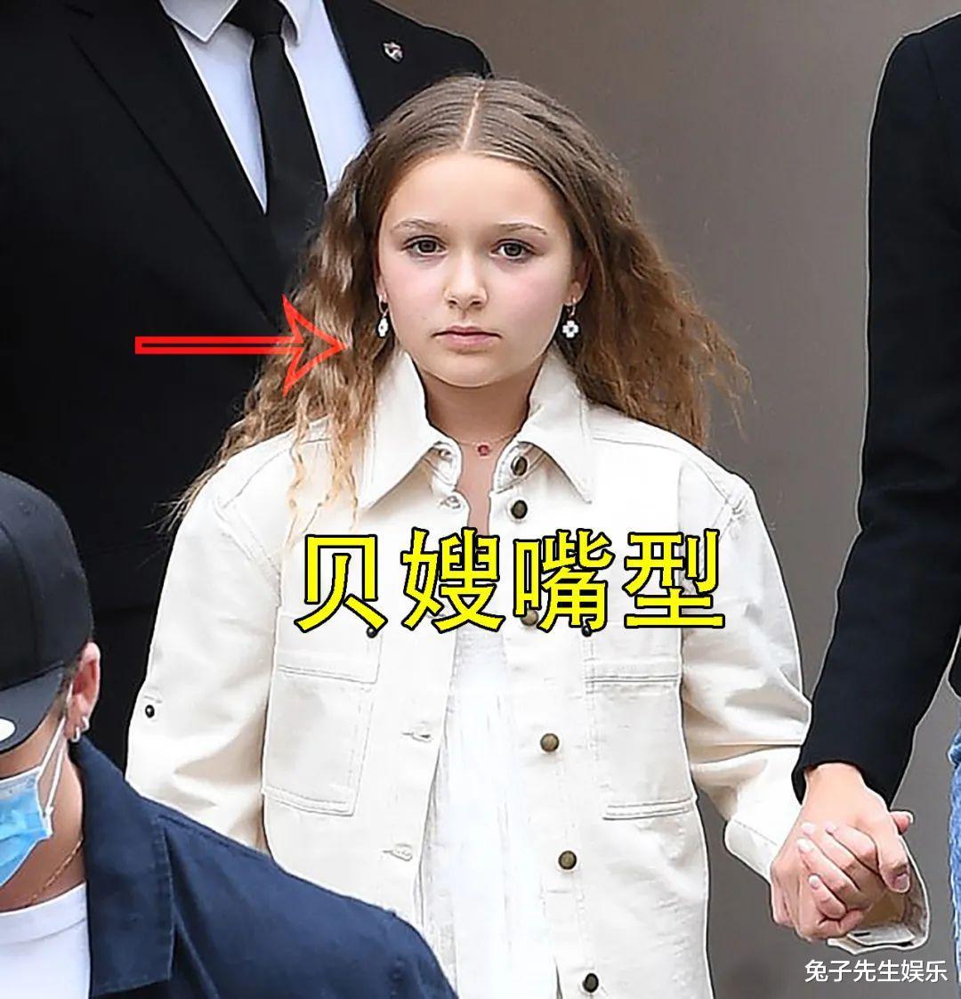 """9岁小七陪新嫂子购物,烫卷发似辣妹,继承妈妈""""猩猩嘴""""太酷了插图6"""