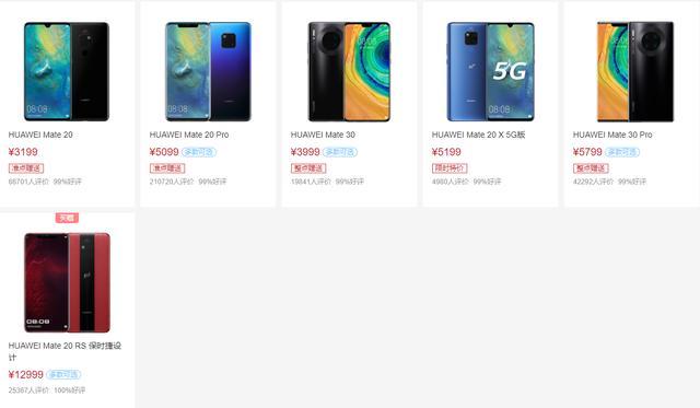 2020年2月你最该买的华为手机:华为手机产品线最全梳理