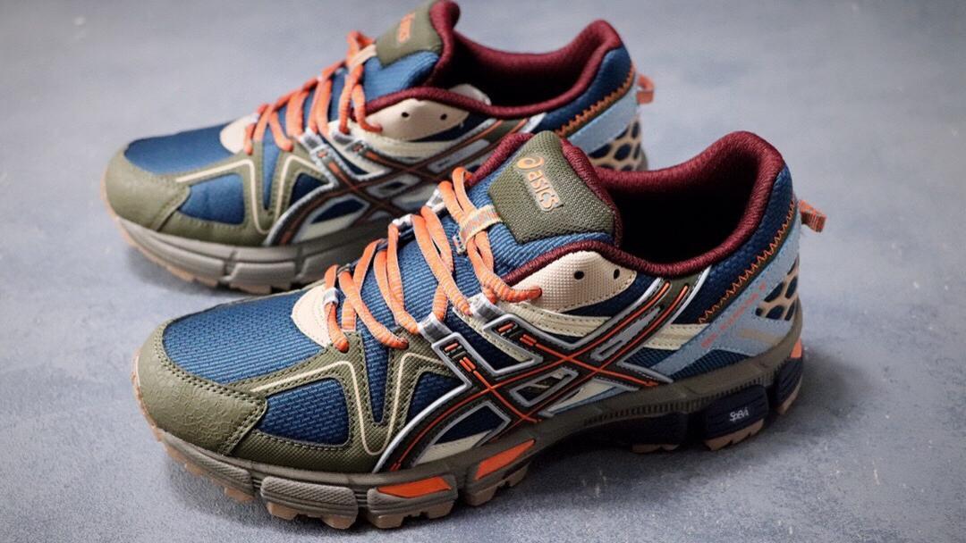 日本专业跑鞋品牌·ASICS/亚瑟士 Tiger Gel-Kahana 8代户外越野休闲运动跑步鞋。