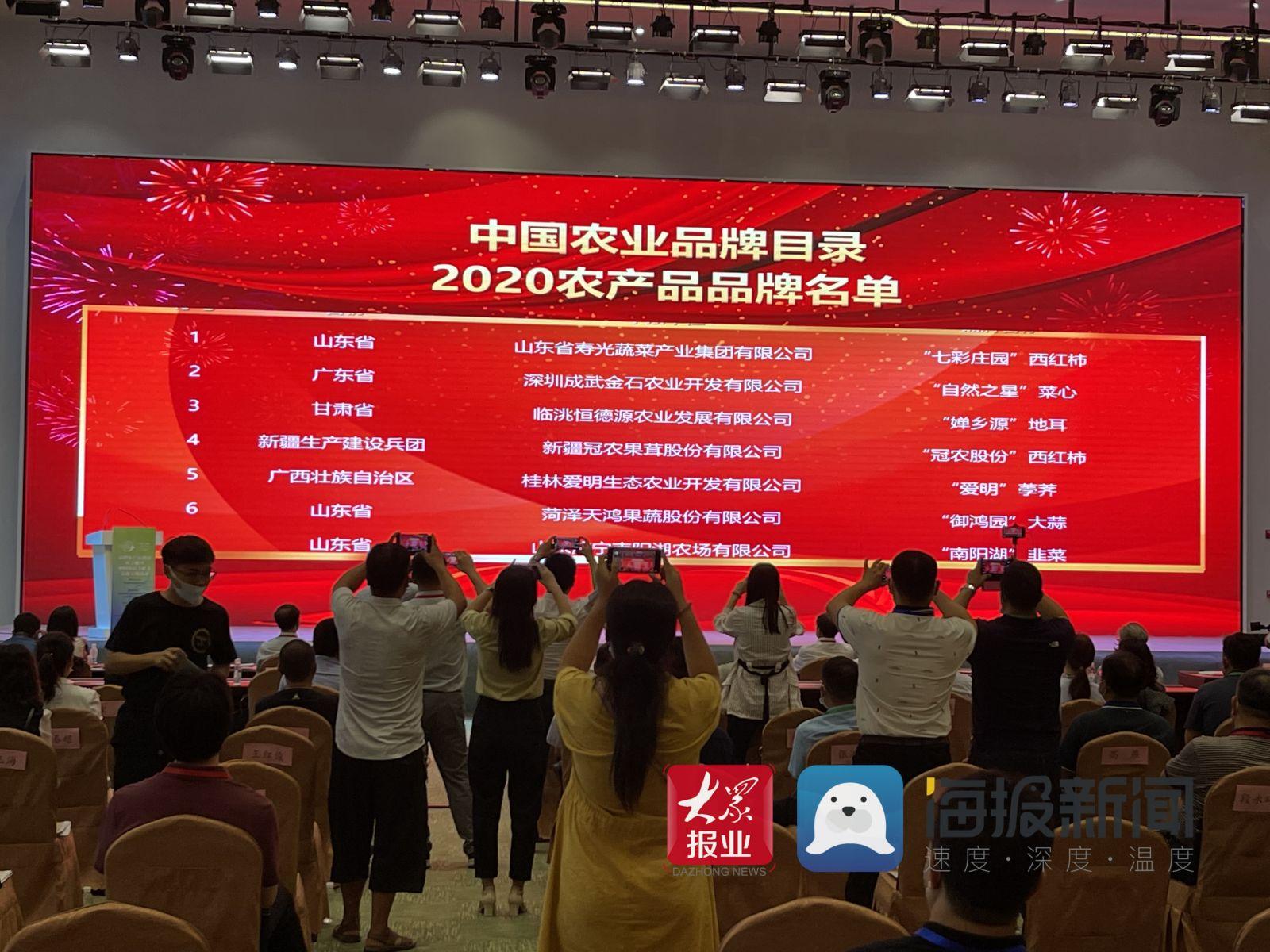 108個農產品品牌入選 中國農業品牌目錄2020農產品品牌在青島發佈