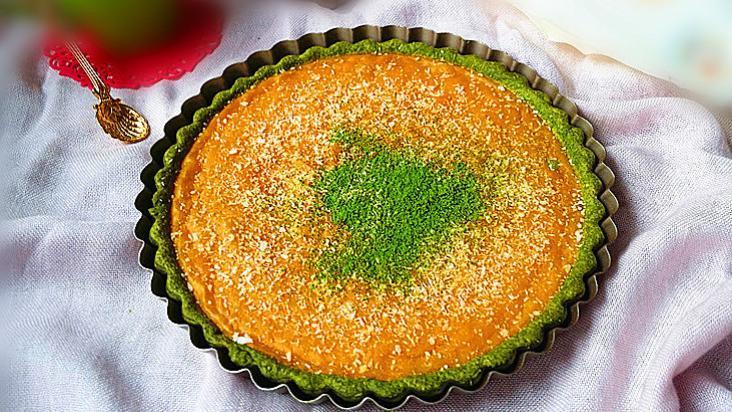 抹茶奶酪南瓜派:香甜软糯、好吃美味,做法简单,抹茶控了解一下