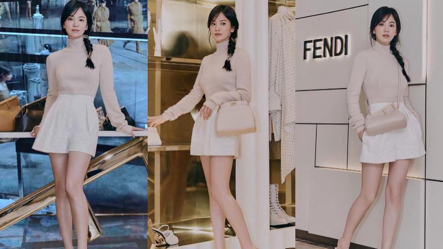 宋慧乔初秋OL装化身帅气CEO,时尚穿搭成范本,长裙裤装都能驾驭