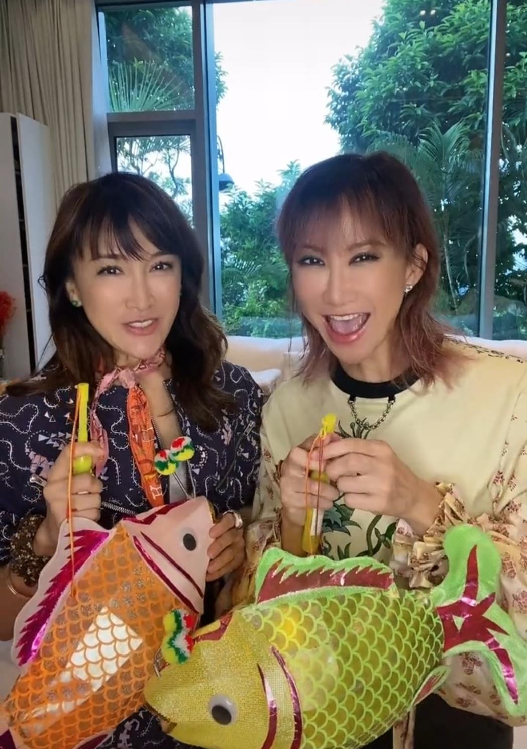 46岁李玟罕晒近况,与二姐一同出镜恰似双胞胎,背后豪宅不测暴光