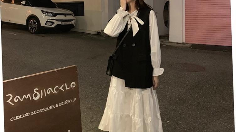 气质连衣裙子时尚两件套装秋冬长裙