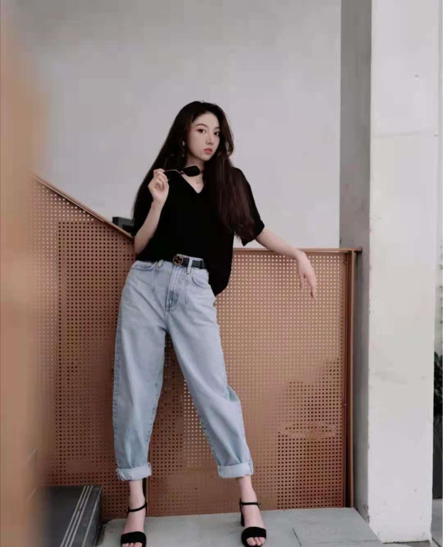 一组时尚达人的牛仔裤穿搭示范,你get到了吗?插图4