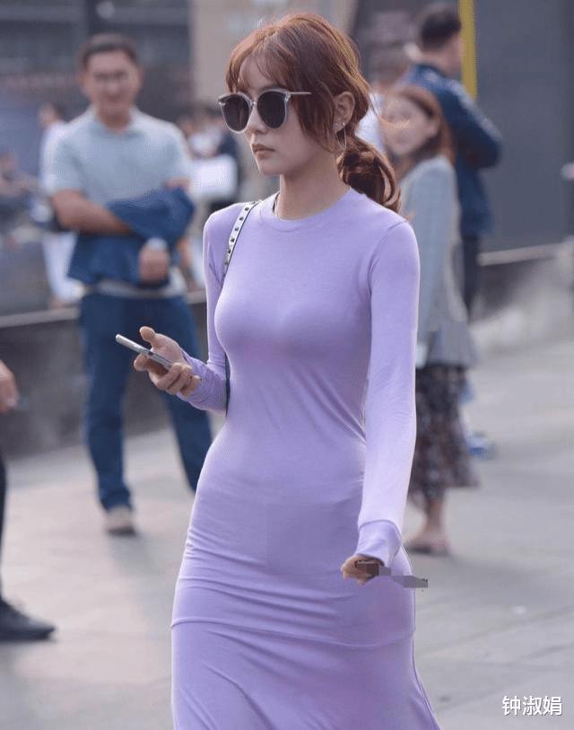 """姑娘们感受到了""""紫色"""",尽显了小姐姐""""高冷迷人""""的气质"""