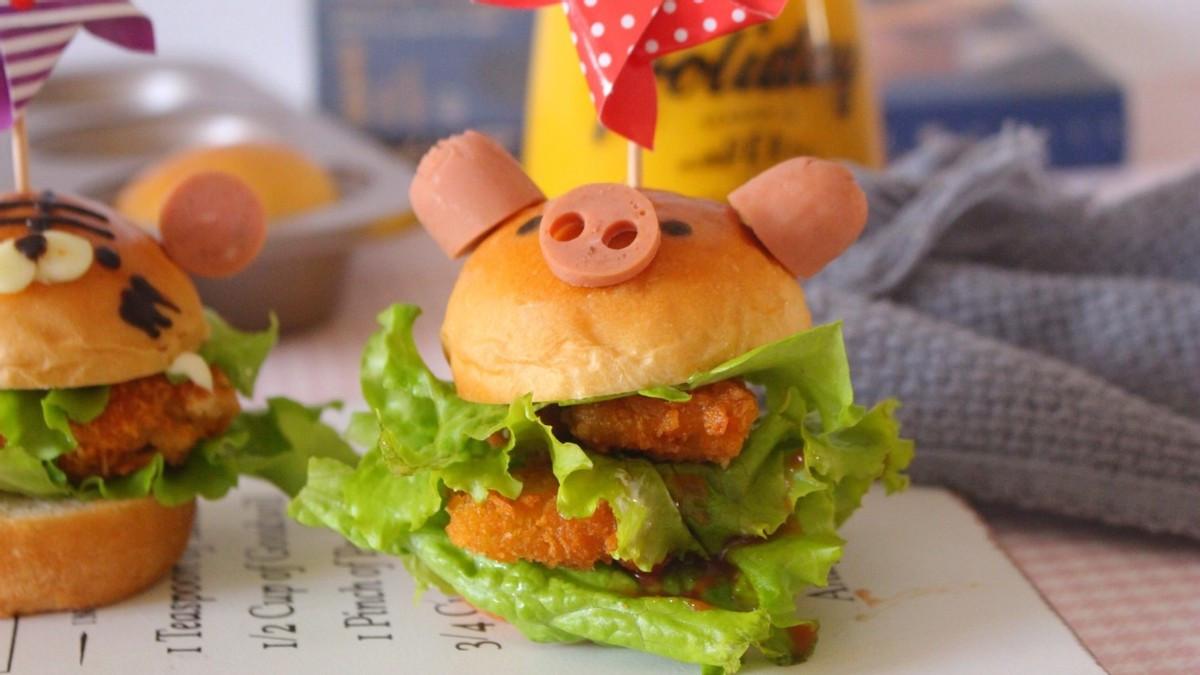 自制小汉堡,卡通又可爱,味道好极了