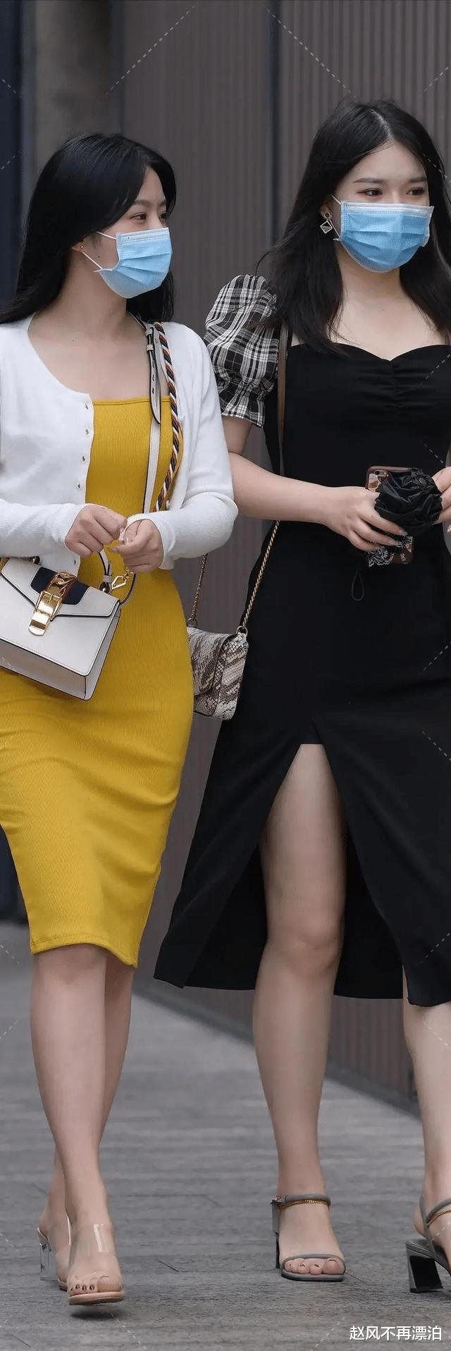 包臀裙穿在身上真时髦,时尚感体现出动