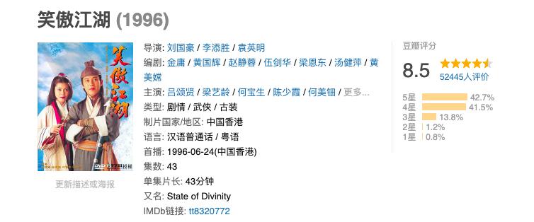 25年前的《笑傲江湖》:女主梁艺龄曾遭车祸,何美钿却最为惊艳