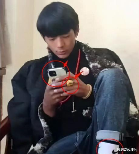 丁真手上的天珠戒指和他用的苹果手机 数码科技 第4张
