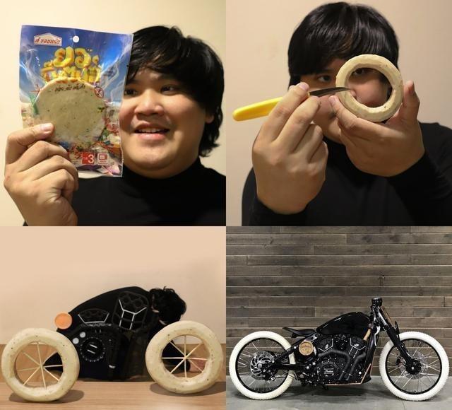 《【煜星娱乐网页登陆】泰国小胖cos来了,这次他把自己cos成了摩托车》