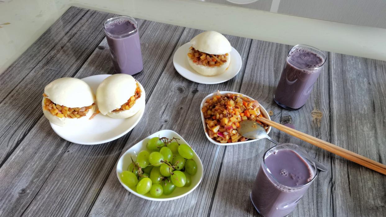 早餐做了中式汉堡,丈夫和孩子吃了连夸赞,你也给家人试试吧
