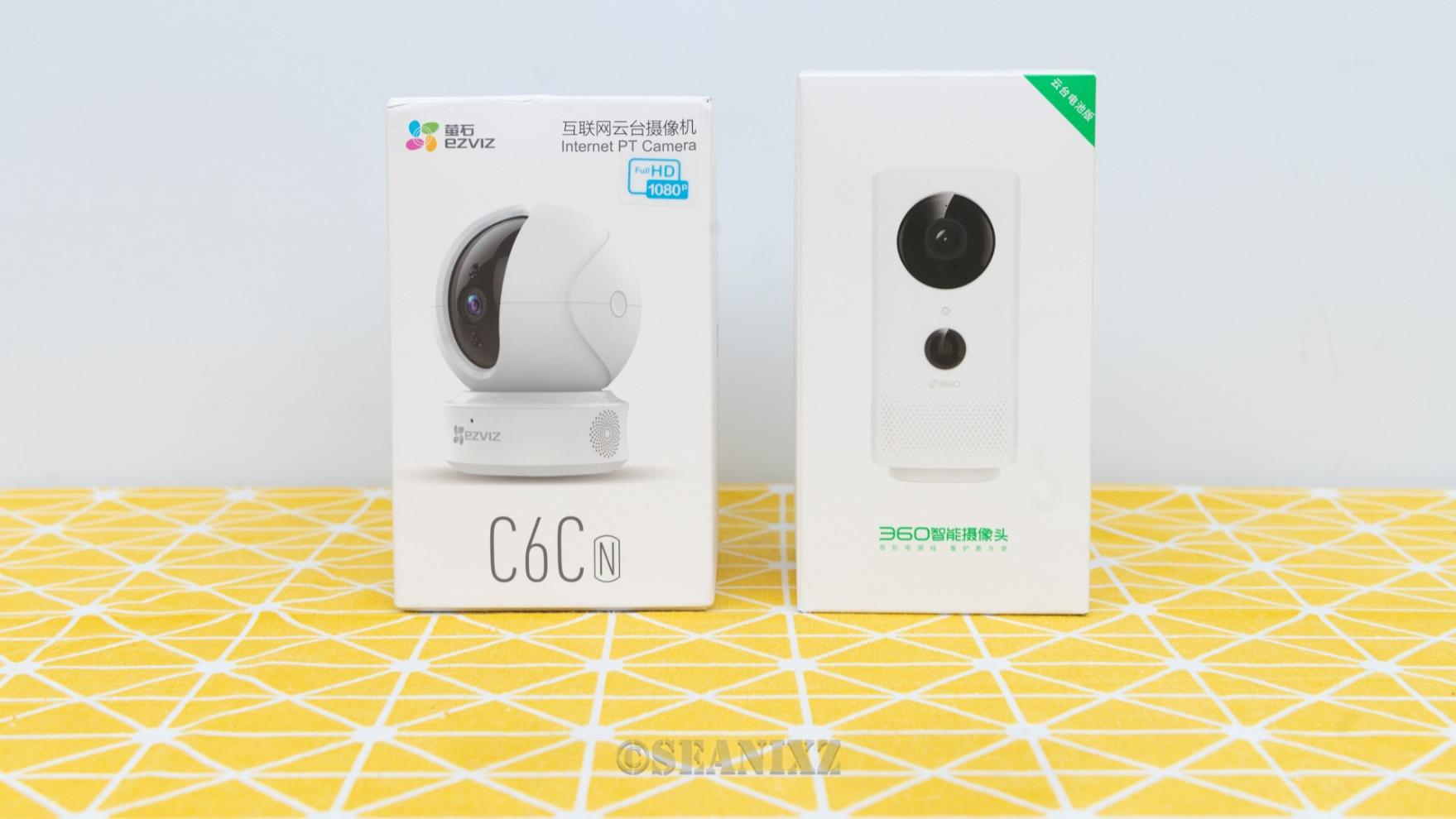 360智能摄像机3C电池版& 萤石C6CN云台摄像机对比评测
