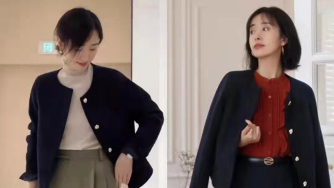 女人40岁后别总穿打底裤,学这位博主的裙装穿搭,时髦又有女人味