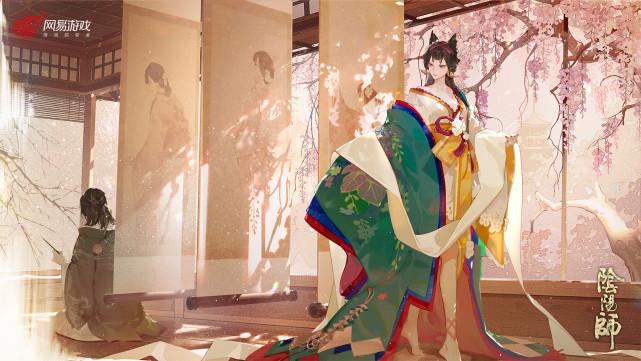 """《【煜星在线登录注册】阴阳师""""最美""""女式神,头上梳着中式发髻,背靠日本国宝级作品》"""