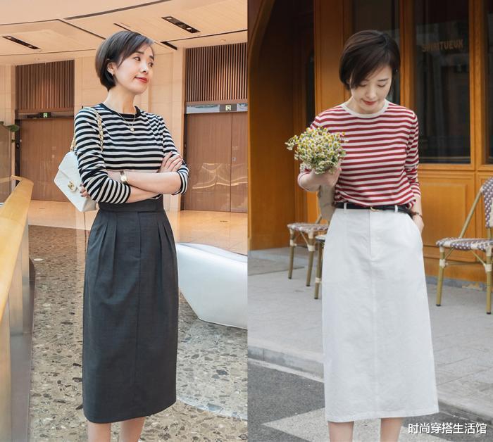 又被这个时尚博主春季穿搭圈粉了,40+女人这样穿,减龄又显气质