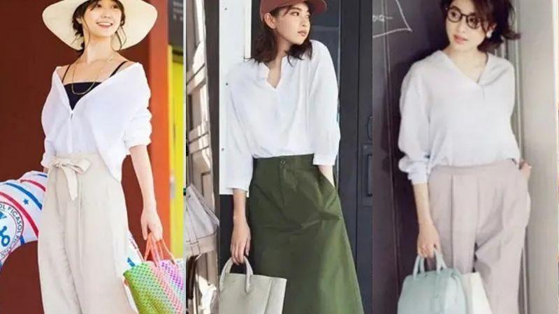 基础款白衬衫怎么穿才好看?记住这4个搭配细节,休闲通勤都实用