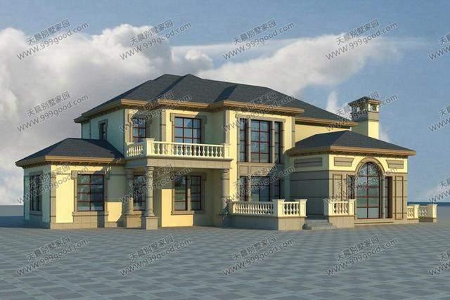 法式风格自建房别墅设计图,二层带地下室,豪的没朋友!